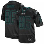 Camiseta NFL Elite Hombre Philadelphia Eagles 86 Zach Ertz Negro