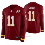 Camiseta NFL Hombre Washington Redskins Alex Smith Burgundy Therma Manga Larga