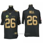 Camiseta NFL Gold Limited Hombre Pittsburgh Steelers 26 Bell Negro