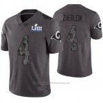 Camiseta NFL Limited Hombre Los Angles Rams Greg Zuerlein Gris Super Bowl LIII