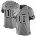 Camiseta NFL Limited Tennessee Titans Personalizada Team Logo Gridiron Gris