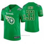 Camiseta NFL Limited Hombre Tennessee Titans Dion Lewis St. Patrick's Day Verde