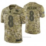 Camiseta NFL Limited Hombre Baltimore Ravens Lamar Jackson Camuflaje 2018 Salute To Service