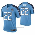 Camiseta NFL Legend Tennessee Titans Derrick Henry Azul 20th Anniversary Color Rush