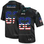 Camiseta NFL Elite Hombre Philadelphia Eagles 62 Jason Kelce Alternate USA Flag Fashion Negro