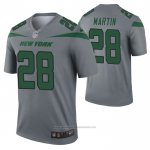 Camiseta NFL Legend New York Jets Curtis Martin Inverted Gris