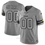 Camiseta NFL Limited Los Angeles Chargers Personalizada Team Logo Gridiron Gris