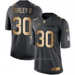 Camiseta Los Angles Rams Gurley Ii Negro 2016 Nike Gold Anthracite Salute To Service NFL Hombre