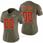 Camiseta NFL Limited Mujer Kansas City Chiefs Personalizada 2017 Salute To Service Verde