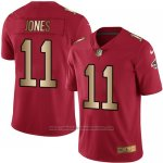 Camiseta Atlanta Falcons Jones Rojo Nike Gold Legend NFL Hombre