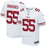 Camiseta San Francisco 49ers Brooks Blanco Nike Elite NFL Hombre
