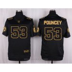 Camiseta Pittsburgh Steelers Pouncey Negro Nike Elite Pro Line Gold NFL Hombre