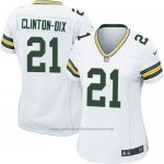 Camiseta Green Bay Packers Clinton Dix Nike Game NFL Blanco Mujer