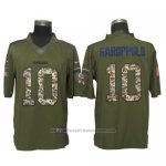 Camiseta NFL Limited Hombre San Francisco 49ers 10 Jimmy Garoppolo Salute To Service Camo