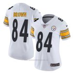 Camiseta NFL Limited Mujer Pittsburgh Steelers 84 Brown Blanco