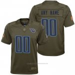 Camiseta NFL Limited Nino Tennessee Titans Personalizada Salute To Service Verde