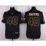 Camiseta Chicago Bears Sayers Negro Nike Elite Pro Line Gold NFL Hombre