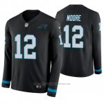 Camiseta NFL Hombre Carolina Panthers D.j. Moore Negro Therma Manga Larga