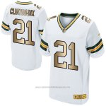 Camiseta Green Bay Packers Clinton-Dix Blanco Nike Gold Elite NFL Hombre