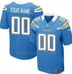 Camisetas NFL Elite Los Angeles Chargers Personalizada Azul