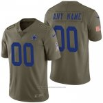 Camiseta NFL Limited Dallas Cowboys Personalizada 2017 Salute To Service Verde