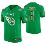 Camiseta NFL Limited Hombre Tennessee Titans Marcus Mariota St. Patrick's Day Verde