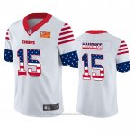 Camiseta NFL Limited Kansas City Chiefs Patrick Mahomes Independence Day Blanco