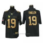 Camiseta NFL Gold Limited Hombre Minnesota Vikings 19 Thielen Negro