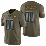 Camiseta NFL Limited Los Angeles Chargers Personalizada 2017 Salute To Service Verde
