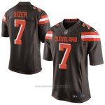 Camiseta NFL Limited Hombre 7 Kizer Cleveland Browns Negro