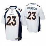 Camiseta NFL Game Denver Broncos 23 Michael Ojemudia Blanco
