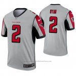 Camiseta NFL Legend Atlanta Falcons 2 Matt Ryan Inverted Gris