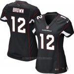 Camiseta Arizona Cardinals Brown Negro Nike Game NFL Mujer