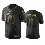 Camiseta NFL Limited Los Angeles Chargers Personalizada Golden Edition Negro