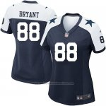 Camiseta Dallas Cowboys Bryant Negro Blanco Nike Game NFL Mujer