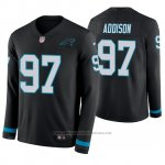Camiseta NFL Hombre Carolina Panthers Mario Addison Negro Therma Manga Larga