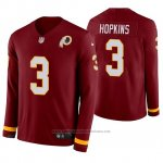 Camiseta NFL Hombre Washington Redskins Dustin Hopkins Burgundy Therma Manga Larga