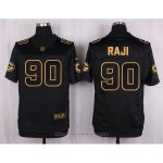 Camiseta Green Bay Packers Rajl Negro Nike Elite Pro Line Gold NFL Hombre