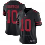 Camiseta NFL Limited Hombre San Francisco 49ers 10 Jimmy Garoppolo Negro Alternate Stitched Vapor Untouchable
