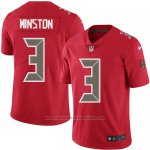Camiseta NFL Limited Hombre Tampa Bay Buccaneers 3 Minston Rojo Stitched Rush