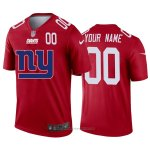 Camiseta NFL Limited New York Giants Personalizada Big Logo Number Rojo