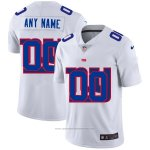 Camiseta NFL Limited New York Giants Personalizada Logo Dual Overlap Blanco