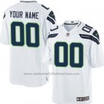 Camisetas NFL Limited Hombre Seattle Seahawks Personalizada Blanco
