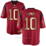 Camiseta Houston Texans Hopkins Rojo Nike Gold Game NFL Hombre