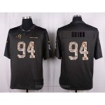 Camiseta Los Angles Rams Quinn Apagado Gris Nike Anthracite Salute To Service NFL Hombre