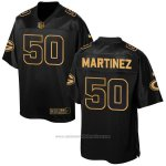 Camiseta Green Bay Packers Martinez 2016 Negro Nike Elite Pro Line Gold NFL Hombre