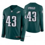 Camiseta NFL Hombre Philadelphia Eagles Darren Sproles Verde Therma Manga Larga
