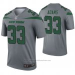 Camiseta NFL Legend New York Jets 33 Jamal Adams Inverted Gris