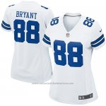 Camiseta Dallas Cowboys Bryant Blanco Nike Game NFL Mujer