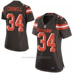 Camiseta Cleveland Browns Crowell Marron Nike Game NFL Mujer